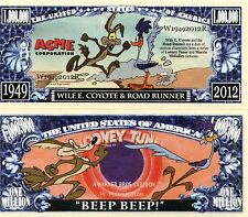Wile E. Coyote & Road Runner - Looney Tunes Million Dollar Novelty Money