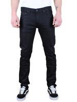 Lee Herren Jeans Luke Zip Pocket - Slim Tapered Fit - Schwarz - Black Gloss