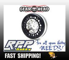 Gear Head RC Axial 1.9 Wheel Beadlock Ring Style No.7 Black Delrin(4) GEA1241