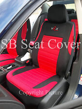 i - TO FIT A NISSAN NAVARA CAR, SEAT COVERS, RED VRX SPORTS, FULL SET