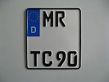 EU-Motorradkennzeichen Motorradschild, Nummernschild, Wunschkennzeichen