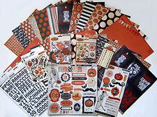 "My Mind's Eye ""Frightful""  Halloween 12x12 Paper & Embellish.(Set b)  Save 60%"