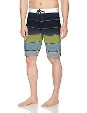 451a2a27e4 Billabong Mens Black Combo All Day OG Stripe Swim Trunks Board Shorts 36