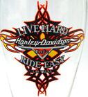 Harley Davidson Cafe Pilsner Glass Live Hard Ride Easy Las Vegas Red Flame Logo