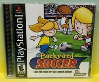 Backyard Soccer Playstation 1 2 PS1 PS2 Game Tested Working 1 Owner Complete