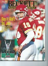 """Becket Foorball Card Monthly June 1995 Issue #63 """"Say it ain't so, Joe"""""""