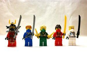 Lego Ninjago Rebooted Techno Robe Lloyd, Kai, Jay, Zane MINIFIGURE lot, 70725