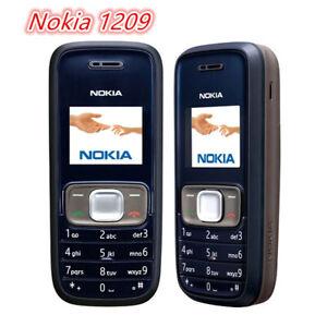 Original Nokia 1209 Blue Cheap phones 2G GSM 1.4'' unlocked Cellphone