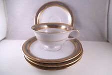 Vintage Eschenbach Bavaria Baronet China Tiara Set of 4 Saucers & 1 Cup