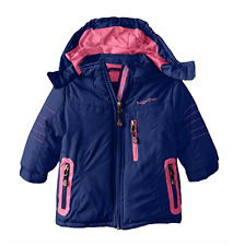 Rugged Bear Baby Girls Coat 18 Months Solid Puffer Winter Jacket Navy Pink
