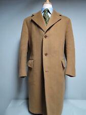 A . Sulka & Company Vicuna Brown Saddle Cloth Royal Patina Dress coat 44 R
