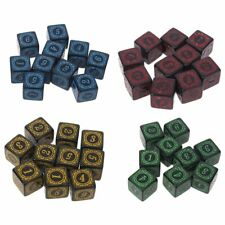 Polyhedral Dice Square Edged Numbers 6 Sided Dices Beads Table Board 10Pc D6
