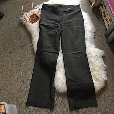 Country road 10 grey women pants trousers high waist flare work career formal