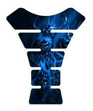 Pissed Devil  Blue Motorcycle 3D Gel Gas tank pad tankpad protector Decal Guard