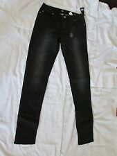 NEW BDB 'GISELE SKINNY' SIZE 28X32 BLACK VINTAGE MID RISE SKINNY STRETCHY JEANS