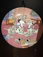 """DISNEY 101 DALMATIANS COLLECTOR PLATE """"WATCH DOGS"""""""