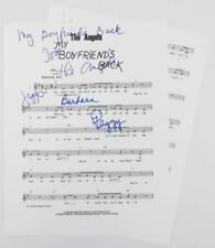 """THE ANGELS Signed Autograph """"My Boyfriend's Back"""" Sheet Music by All 3 Members"""