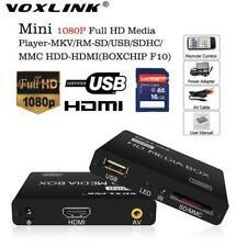 Lettore multimediale hd player Media box reader audio video hdmi telecomando