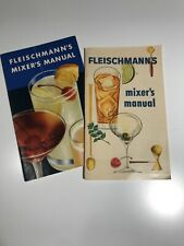 Set of 2 1950s 60s Vintage Fleischmann'S Mixer's Manual Cocktail Recipe Booklet
