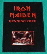 Iron Maiden - Running Free - Brazil 1985 - Program Tourbook Magazine