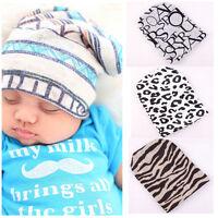 Xmas Newborn Baby Infant Printing Hospital Cap Soft Cotton Beanie Colored Hat
