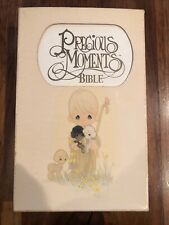 1985 Precious Moments Holy Bible White New King James Version Shepherd Nelson