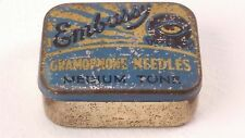 Embassy Medium Tone Gramophone Needles Tin and Contents Free UK P&P