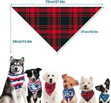 New listing Usa Dog Bandana 3 Pack American Flag Wrap Bandana Scarf Collar fit for Pets Dogs