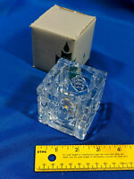 PartyLite 1 P0356 Rochelle Votive Candle Holder Crystal Etched Molded Glass Xmas