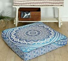 "Pillow Case Ottoman Cushion Floor 35"" Mandala Indian Square Seating Cover Pouf"