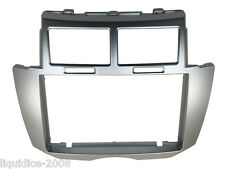 DFP-11-21 TOTOYA YARIS 2007- 2011 SILVER DOUBLE OR SINGLE DIN FASCIA ADAPTER