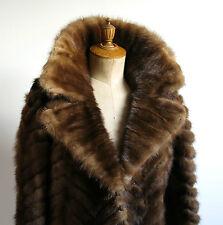 MANTEAU de VISON, superbe manteau en queue de vison d'élevage, ROGER GERKO, 40