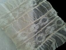 Antique French Ruched Lace Remnant Salvage for Dolls Crafters Projects Art