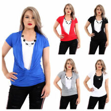 Viscose Short Sleeve Tops & Shirts for Women with Ruched