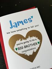 Pregnancy announcement card son you're going to be a big brother reveal PA4