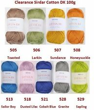 Sirdar Cotton DK 100g DIscontinued Clearance Wool