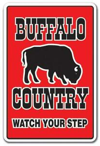 BUFFALO COUNTRY Decal farm animals watch your step redneck parking