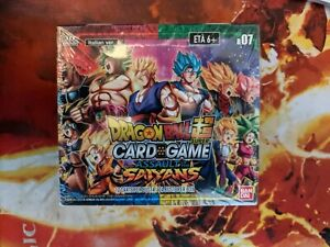 Dragon Ball Super Assault Of The Saiyans TCG Sealed Booster Box 24 Packs Italian