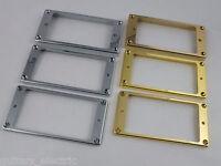 HUMBUCKER Flat based NECK or BRIDGE PICKUP SURROUND RINGS CHROME & GOLD 3 sizes