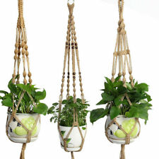 Pot Holder Macrame Plant Hanger Hanging Planter Basket Jute Rope Braided Craft
