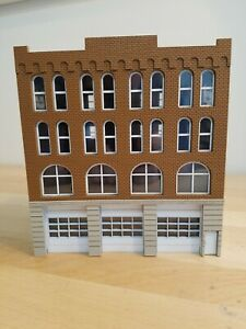HO Scale 1/87 Fire station Built And Ready terra cotta