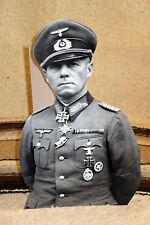 "General Erwin Rommel German World War 2 Figure Tabletop Display Standee 10.5"" T"