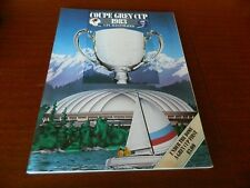 1983 CFL GREY CUP program Toronto vs BC Near mint condition!