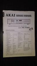 Akai aa-v205 service manual original repair book stereo tuner receiver radio