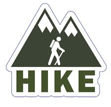 Hike Custom Vinyl Die Cut Sticker 3 x 3 Durable! Dishwasher-Safe! UV Protected!
