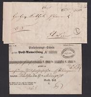 Baden, ein Einlieferungsschein + ein Vorphilabrief aus Schwetzingen