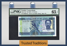 TT PK 22a 2001 GAMBIA 25 DALASIS PMG 65 EPQ GEM UNCIRCULATED TOP POPULATION!