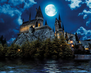 Magic Castle of Wizards - Removable sticky mural, Peel & stick wallpaper, PVC