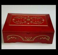 Vintage Jewelry Music Box Princess Marcella Borghese Arrivederci Roma Music