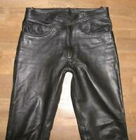 """ INDIAN ANGEL "" Herren- LEDERJEANS  Biker- Lederhose in schwarz ca. W34"" /L33"""